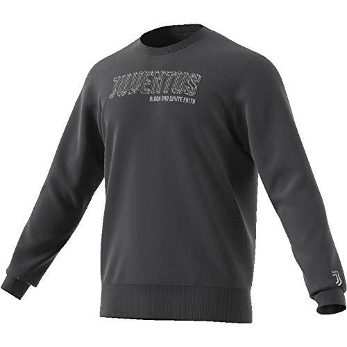 adidas Herren Juventus Turin Crew Sweatshirt, Carbon, L