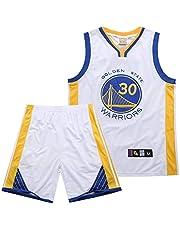 SSRSHDZW NBA Warriors Curry No. 30 - Traje bordado para uniforme de baloncesto (talla XL), color blanco