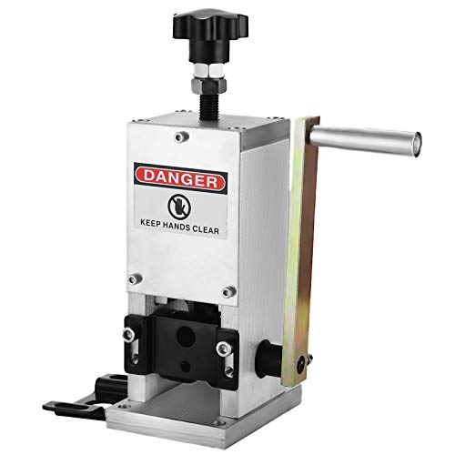 Happybuy Manual Wire Stripping Machine 0.06-0.98 inches, Wire Stripper Machine with Hand Crank Portable, Wire Stripping Tool Aluminum Construction,for Scrap Copper Recycling