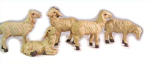 Schafe 5tlg. geeignet für 11 bis 13cm Figuren