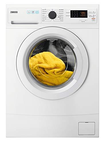 AEG Zanussi ZWS7410WF Kompakte Waschmaschine mit nur 491 mm Tiefe / 7,0 kg/Kindersicherung/Wasserstopp / 1400 U/min, weiß