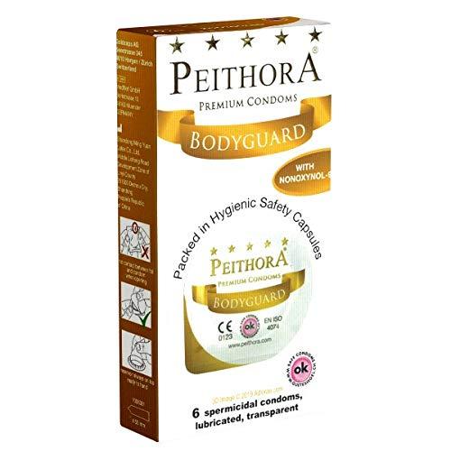 Peithora Bodyguard - 6 preservativi con spermicida