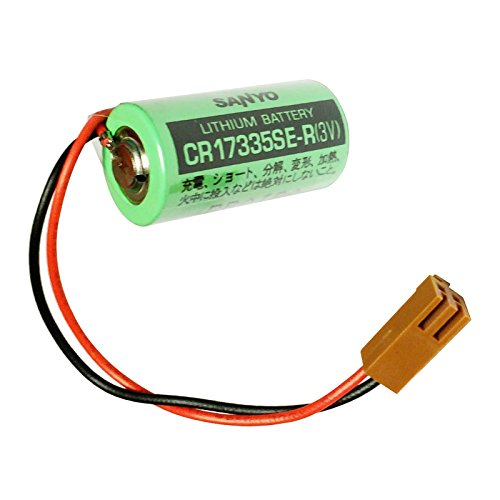 1x SANYO CR17335SE-R CR17335 3V PLC Lithium Battery with Plug Wire