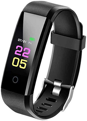 ANKM Pulsera de fitness, rastreador de actividad con pulsómetro, reloj inteligente para...