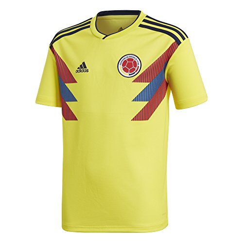 adidas Youth Colombia 2018 Home Replica Jersey Yellow/Blue M