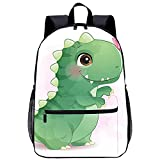 WBLWBL Mochila unisex con bandolera de hombro Lindo dinosaurio jugando con mochila de mariposa 31 * 14 * 45cm con bolsillos Mochila personalizada para escolares