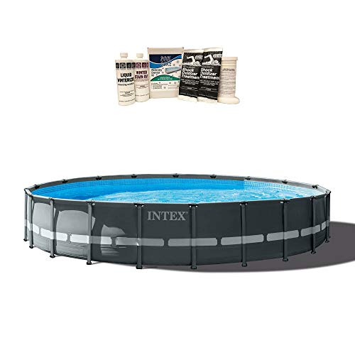 Intex 24ft x 52in Ultra XTR Round Frame Pool, Pump, Ladder, & Winterizing Kit