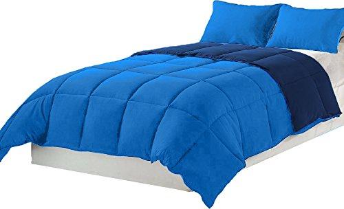 Tata Home Piumino Winter Double Face Invernale 300 gr/mq in Morbida Microfibra Misura 1 Piazza Singolo cm 155x200 Colore Blu Avio