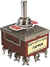 -OFF MOMENTARY TOGGLE SWITCH 41AF HEAVY DUTY 4PST ON SPADE TERMINALS