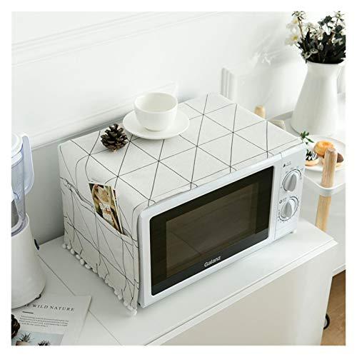JINAN Housse de protection pour four à micro-ondes avec poche en coton épais et lin (couleur : 5, taille : 30 x 90 cm)