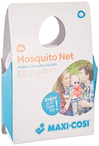 Maxi-Cosi Insektenschutz für Babyschale, Mückennetz für alle Maxi-Cosi Baby Autositze (wie z.B. Rock, Pebble Plus, Cabriofix, Citi uvm.), feinmaschiges Moskitonetz mit Gummizug und Trageöffnung