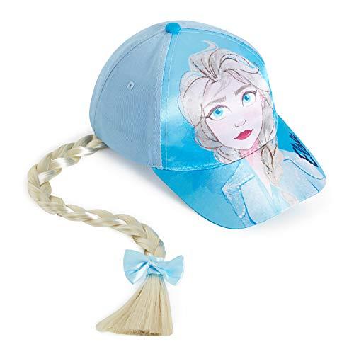 Disney Frozen 2 Baseball Cap, Cap Mädchen mit Prinzessin ELSA, Kinder Kappe mit Zöpfe, Hut Mädchen Sommer, Stilvolle Haarschmuck Zubehör, Kleine Geschenke für Kinder