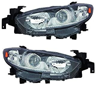 For 2014 2015 2016 Mazda 6 Headlights Headlamps Pair Set Replacement MA2518160 MA2519160