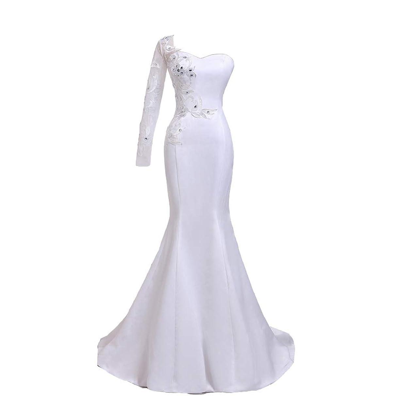 Seasail 2019 One Sleeve Robe De Mariage Heart Lace with Diamond Mermaid Wedding Dresses