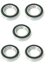 5x 6010 2RS Rubber Sealed Deep Groove Ball Bearings - 50x80x16 mm