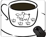 Yanteng Animal Design Cute Baby Pig Mousepad, Breakfast Mouse Pads