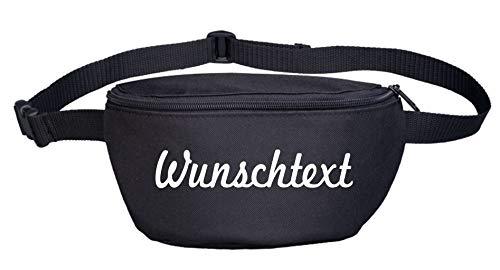 Bauchtasche mit Wunschtext - Schreibschrift - Bedruckt - Gürteltasche Hipbag Druckfarbe: Weiss