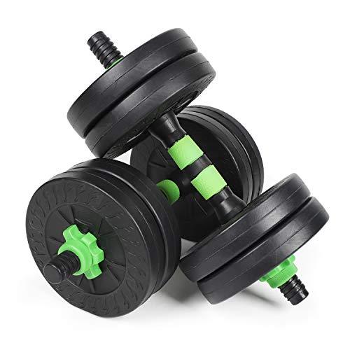 #DoYourSports Set di manubri Regolabili 2-in-1-30 kg - Adatti per Tutti i Gruppi muscolari - da Manubrio a bilanciere - Verde