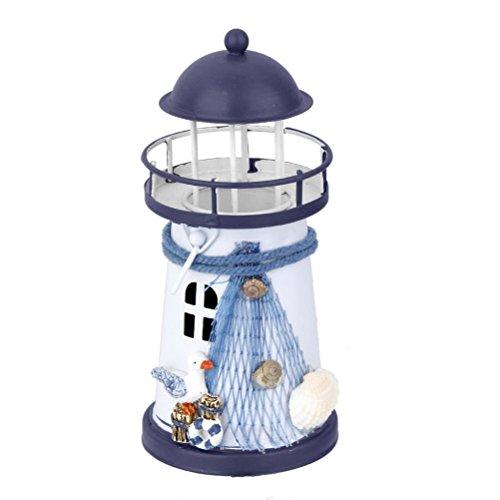 WINOMO Leuchtturm Kerzenhalter Teelichthalter Deko