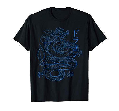 Japanischer Drache - Kanji Kalligraphie Cool Dragon T-Shirt
