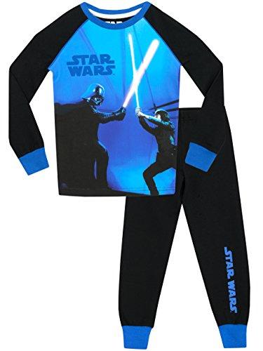 Star Wars - Pijama para Niños Brillan En La Oscuridad 6-7 Años