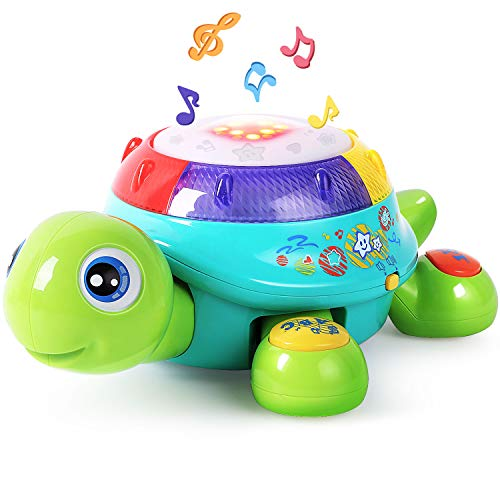 Musical Turtle Toy, English & Spanish Learning, Electronic Toys W/ Lights and...