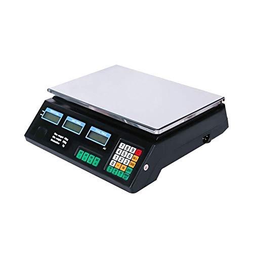 LICHUXIN Digital Báscula Electrónica Precio Informática Peso Tienda Comercial Báscula Plataforma Inoxidable LCD Pantalla Doble Cara Digital for Frutas Veggi Báscula (Color : 30KG)