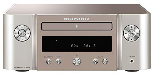 Marantz MCR412 HiFi Verstärker, Bluetooth Receiver mit CD-Player, FM & DAB/DAB+ Radio, Musik-Streaming, Subwoofer-Ausgang, USB-Anschluss, 2 optische TV-Eingänge, Silber/Gold, MCR412/T1SG