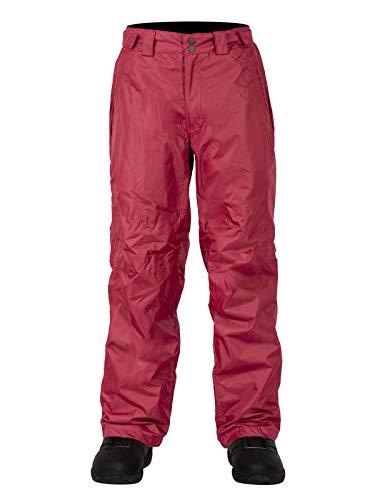 Claw Hammer Pantalon de Ski Unisexe Salopettes de Snowboard, Femme, Bordeaux foncé, m