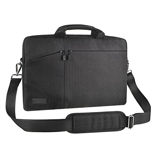 EKOOS 16-17,3 Zoll Laptoptasche Schultertasche Umhängetasche, Business Laptophülle Notebook Briefcase wasserdichte für MacBook ThinkPad Dell HP Acer Toshiba Samsung Chromebook (Schwarz, 17,3 Zoll)