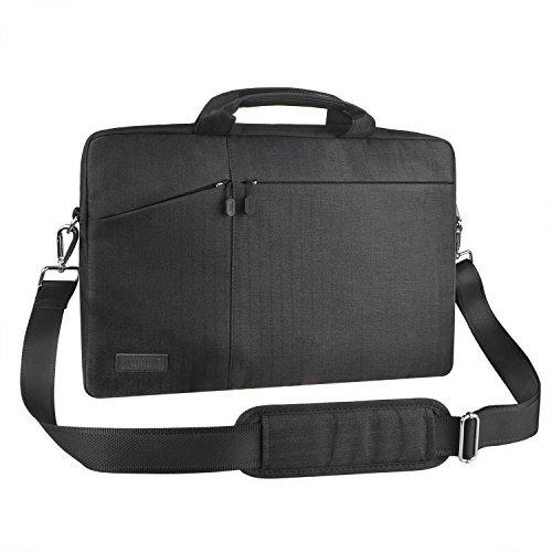 17-17,3 Zoll Laptoptasche Schultertasche Umhängetasche, EKOOS Business Laptophülle Notebook Briefcase wasserdichte für MacBook ThinkPad Dell HP Acer Toshiba Samsung Chromebook (Schwarz, 17,3 Zoll)
