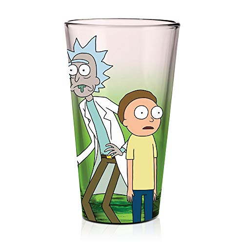 Rick and Morty Tie-Dye Pint Glass