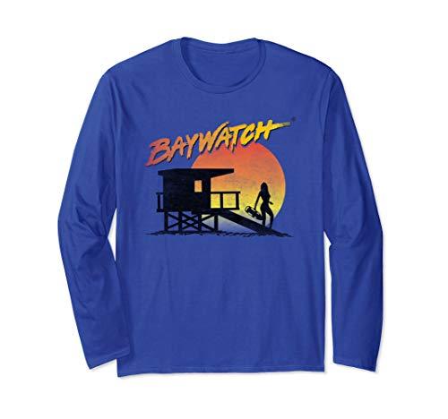 Baywatch Unisex Lifeguard Sunset Long Sleeve T-Shirt, 3 Colors