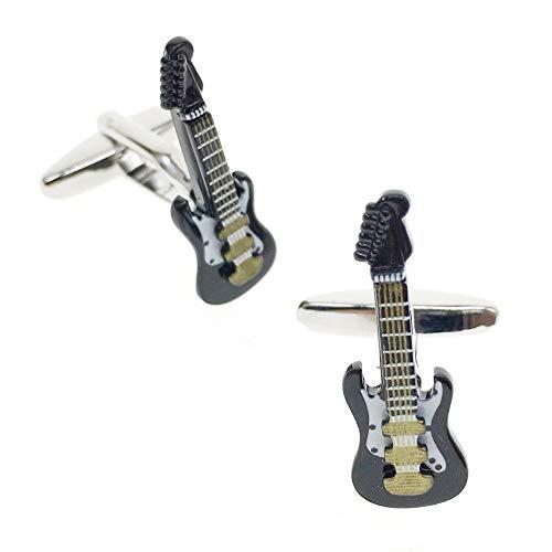 Cuff-Arts Guitar Cufflinks for Men Music Cufflinks for Shirts Business Wedding with a Presentation Gift Box C10011