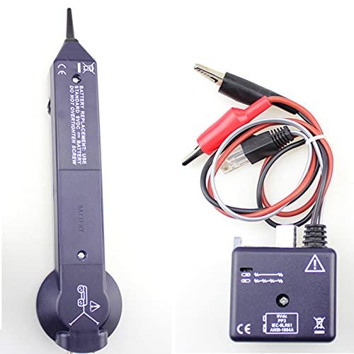 RUIZHI Kit de generador de audio, buscador de línea de medición de cable de red, circuito de seguimiento de cable Buscador de línea de probador de cable de alta precisión 200EP