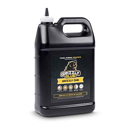 Grizzly One Wood Glue, Polyurethane Adhesive, 1 Gallon Bottle by Grizzly Glue(1G)