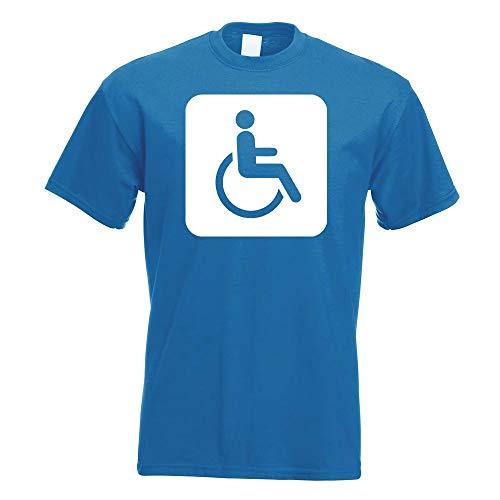 Kiwistar - Behinderte Rollstuhl WC Piktogramme T-Shirt in 15 Herren Funshirt Bedruckt Design Sprüche Spruch Motive Oberteil Baumwolle Print Größe S M L XL XXL