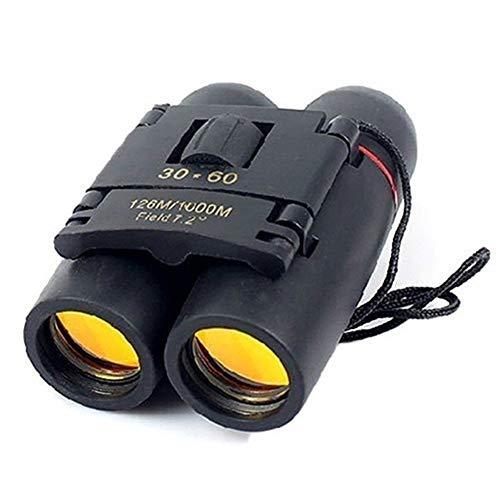 BonTime 30x60 Binoculares pequeños y compactos Potente telescopio Plegable con Tela Limpia...