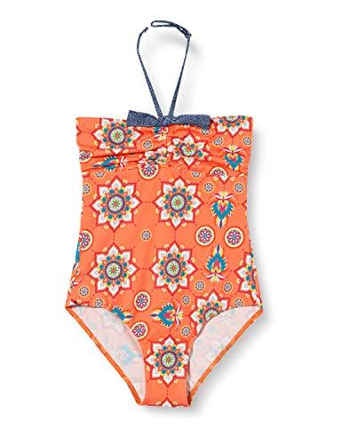 Fashy Mädchen Badeanzug, Mehrfarbig Gemustert, 176
