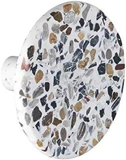 WENKO Patère Melle Terrazzo - Crochet à visser, Polyrésine, 8 x 4.5 x 8 cm, Multicolore