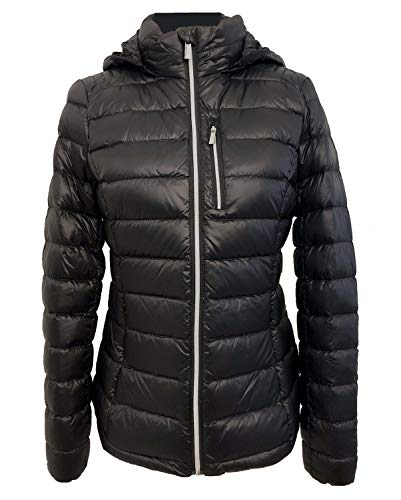 Michael Michael Kors Womens Packable Quilted Puffer Down Jacket Black (L)