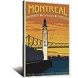 Vintage-Poster mit Weltreise, Kanada, Montreal,