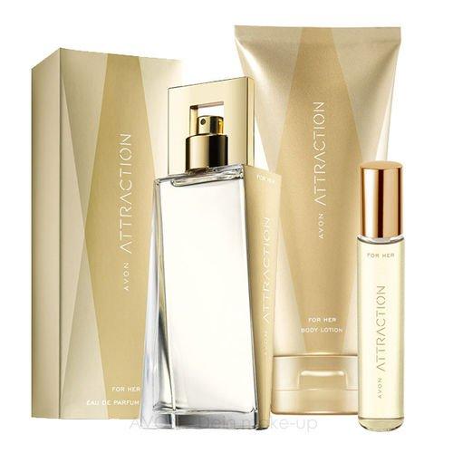 AVON Attraction 3-tlg. Set für Sie Eau de Parfum 50ml + Körperlotion 150ml + Taschenspray 10ml