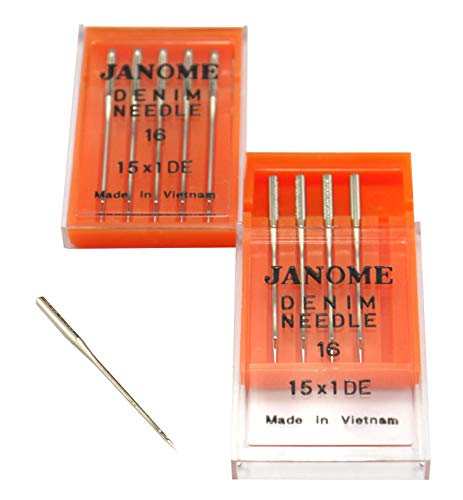 Review Of DREAMSTITCH 990416000A Denim Needles 15X 1DE #16 for Janome Brand 990416000A