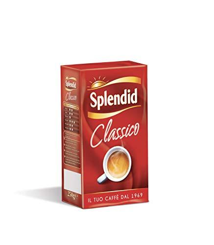 Splendid - Caffè Macinato Gusto Classico - Miscela per Macchina Caffè Moka - 16 Confezioni - Pacco da 250 gr