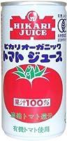 ヒカリ食品 オーガニックトマトジュース(有塩) 190g缶 30本入(光食品)