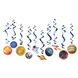 Paper Jazz 10pcs Outer Space Party Decoration Hanging Solar System Swirls Solar System Party Planet Astronaut Universe Theme Party Supplies