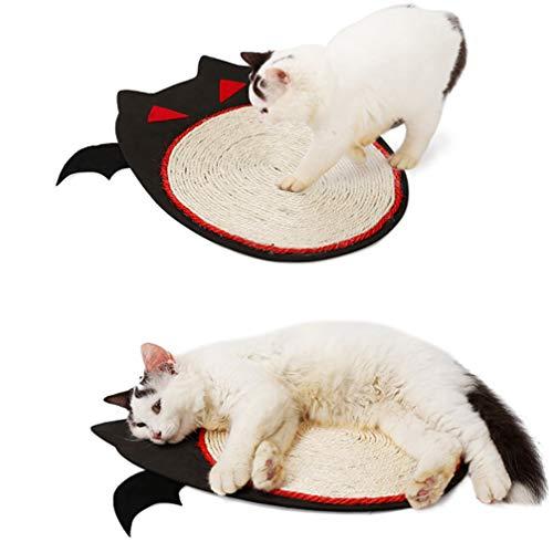 PATKAW Alfombrilla de Sisal para Gatos Alfombrilla de Rascador para Gatos Alfombrilla de Sisal para Gatos en Forma de Murciélago Almohadón para Gatos