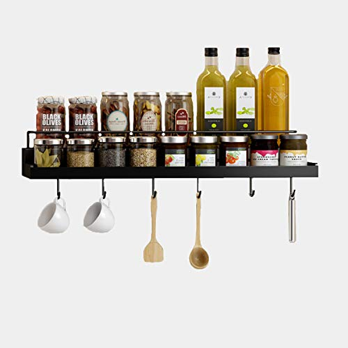CRYPIN Boîte de Rangement Pour étagère à épices Support de Rangement Mural, adapté Pour le Rangement Dans la Cuisine des épices, des Articles ménagers, de la Salle de bain, etc