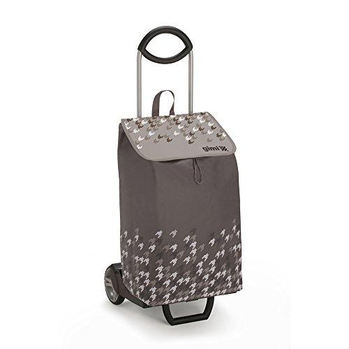 Gimi Trolley Ideal Einkaufstrolley, Vliestasche, taubengrau, 50 l Fassungsvermögen, 30 kg Höchstlast